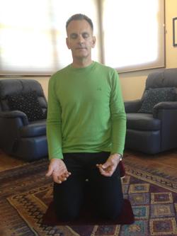 Peter meditating